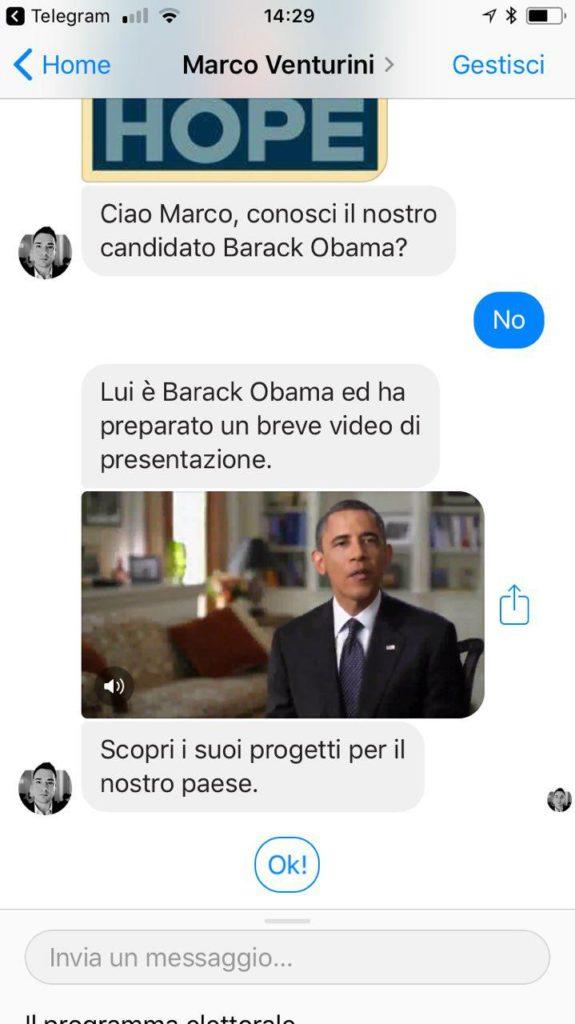 messenger comunicazione politica chatbot