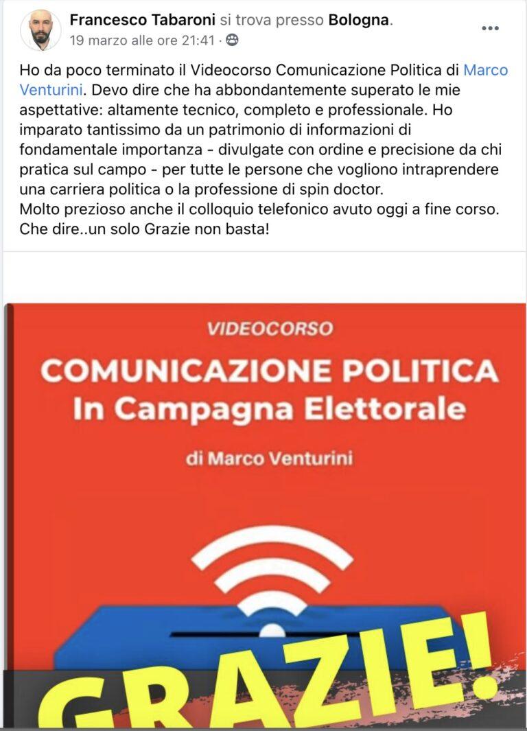 corso comunicazione politica recensione